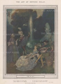 "Illustrated London News: Claire de Lune. 1918. An original antique chromolithograph. 8"" x 12"". [DECp2117]"