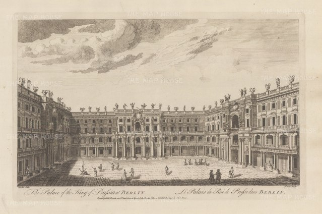 Berlin Palace. View of the interior courtyard designed by Andreas Schluter.
