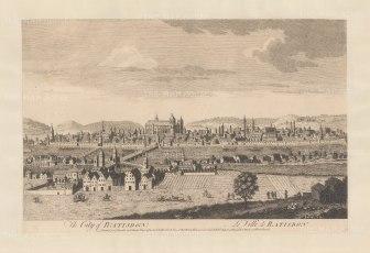 "Sayer: Regensburg. 1774. An original antique copper engraving. 18"" x 12"". [GERp1245]"