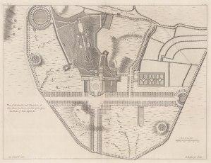 """Campbell: Clairmont, Surrey. 1720. An original antique copper engraving. 20"""" x 15"""". [ENGp337]"""