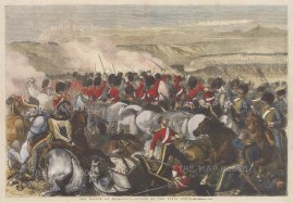 Charge of the Heavy Brigade of Royal Scots Greys. Crimean War.