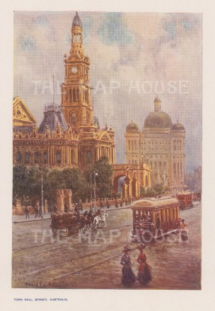 Town Hall, Sydney: After Percy Spence.