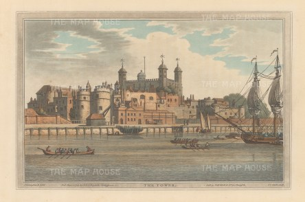 View from the River Thames. After Joseph Farington.