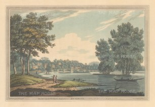 Richmond. View on the Thames of the town and bridge, After Joesph Farington.
