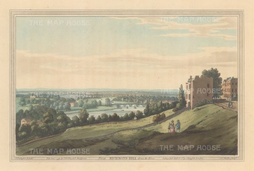 Richmond. View down the Thames from Richmond Hill. After Joesph Farington.