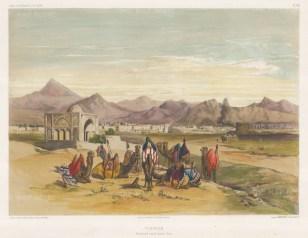 View on the road to Casbinn (Qazvin).