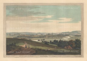 Panoramic view of Oxford from the environs. After John Farington.