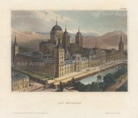 Bird's eye view of the palace at San Lorenzo.