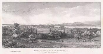 "Bouchette: Montreal. 1832. An original antique lithograph. 15"" x 7"". [CANp674]"