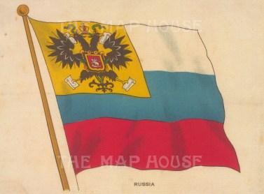 """BDV Cigarettes: Russia. c1910. Original printed colour on silk. 6"""" x 4"""". [ARMp107]"""