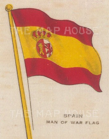 "Cigarettes Cards: Spain. c1910. Original printed colour on silk. 2"" x 3"". [ARMp116]"