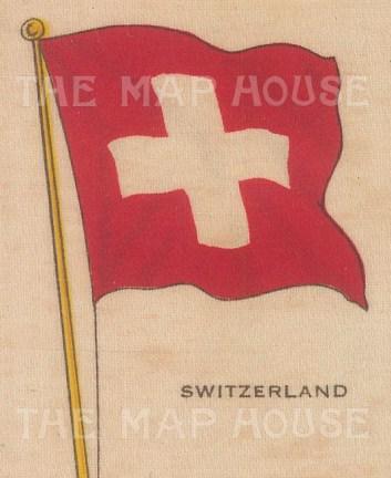 "Cigarette Cards: Switzerland. c1910. Original printed colour on silk. 2"" x 3"". [ARMp118]"