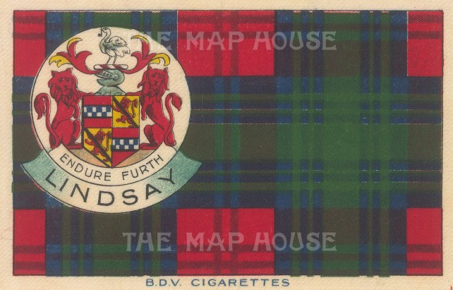 "BDV Cigarettes: Lindsay. 1910. Original printed colour on silk. 7"" x 5"". [ARMp132]"
