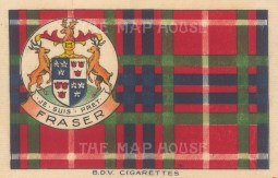 "BDV Cigarettes: Fraser. 1910. Original printed colour on silk. 7"" x 5"". [ARMp133]"