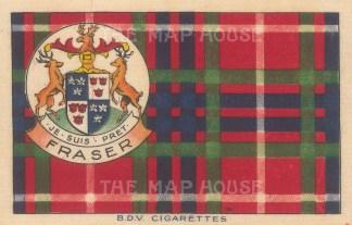 "BDV Cigarettes: Fraser. 1910. Original printed colour on silk. 7"" x 5"". [ARMp133]"