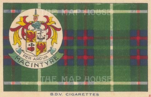 BDV Cigarettes: MacIntyre. 1910. Original printed colour on silk. [ARMp134]