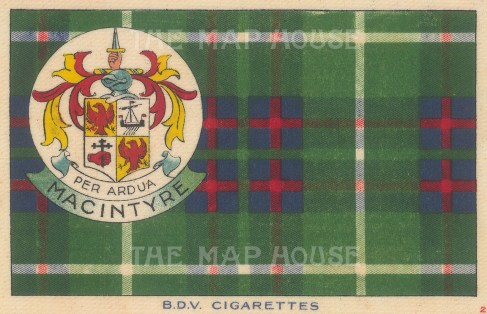 BDV Cigarettes: MacIntyre. 1910. Original printed colour on silk. [ARMp134]