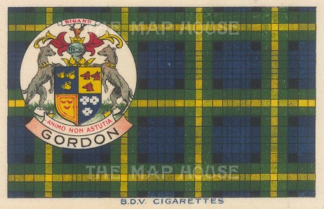 "BDV Cigarettes: Gordon. 1910. Original printed colour on silk. 7"" x 5"". [ARMp138]"