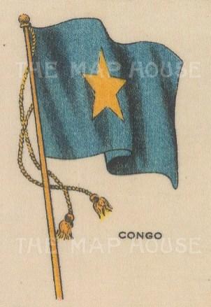"Cigarette Cards: Congo. c1910. Original printed colour on silk. 2"" x 3"". [ARMp24]"