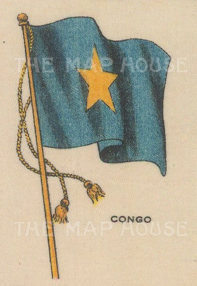 "Cigarette Cards: Congo. c1910. Original printed colour on silk. 2"" x 3"". [ARMp24]"