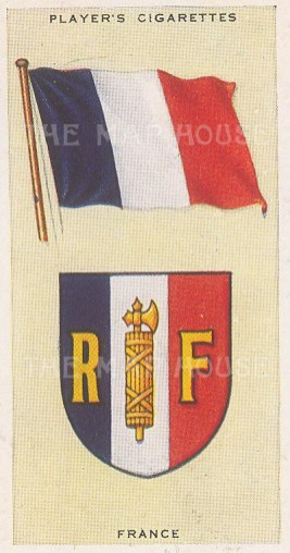 "Player's Cigarettes: France. c1935. An original antique chromolithograph. 1"" x 3"". [ARMp42]"
