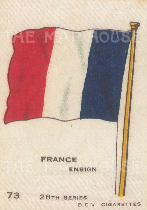 "BDV Cigarettes: France. c1910. Original printed colour on silk. 2"" x 3"". [ARMp43]"