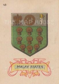 "Cigarette Cards: Malay States. c1915. Original printed colour on silk. 2"" x 3"". [ARMp75]"