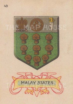 "Cigarette Cards: Malay States. c1915. Original printed colour on silk. 2"" x 3"". [ARMp75]"