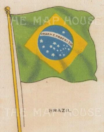 "Cigarette Cards: Brazil. c1910. Original printed colour on silk. 2"" x 3"". [ARMp9]"