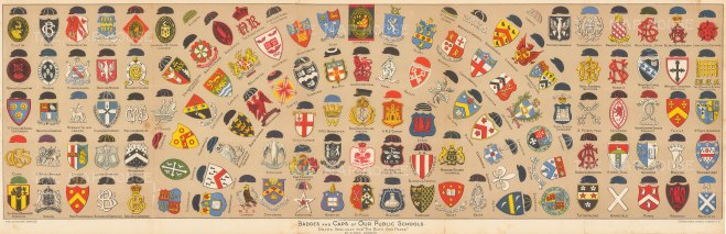 120 badges and caps of the Public Schools. After Alfred Lambert.