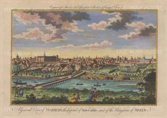 "Moore: Madrid. 1778. A hand coloured original antique copper engraving. 10"" x 7"". [SPp1108]"
