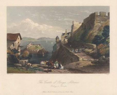 "Bartlett: Parga. 1838. A hand coloured original antique steel engraving. 7"" x 5"". [GRCp901]"