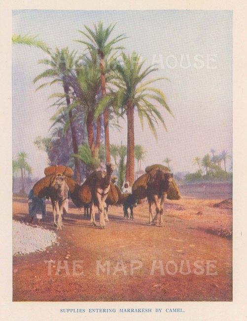 """Vernon: Marrakesh, Morocco. 1927. An original colour vintage photo-lithograph. 4"""" x 5"""". [AFRp1429]"""