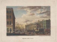 "Capon: Billingsgate. 1801. A hand coloured original antique steel engraving. 7"" x 5"". [LDNp10774]"