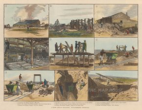 Gold Mining: Transvaal. Nine scenes at Witwatersrand,