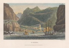 """Kelly: St Helena. c1840. A hand coloured original antique steel engraving. 7"""" x 5"""". [AFRp1339]"""