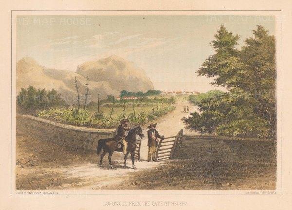 "Perry: Longwood, St Helena. 1856. An original colour antique lithograph. 9"" x 6"". [AFRp472]"