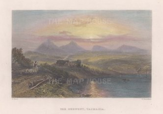 "Booth: Derwent, Tasmania. 1873. A hand coloured original antique steel engraving. 7"" x 5"". [AUSp746]"