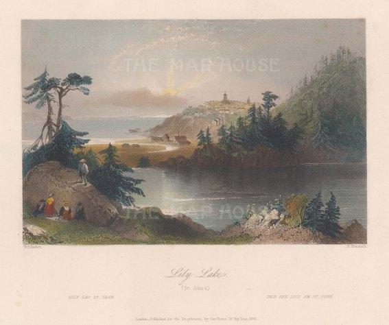 "Bartlett: St. John. c1840. A hand coloured original antique steel engraving. 8"" x 7"". [CANp615]"