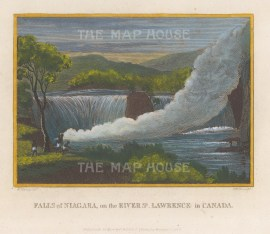 "Craig: Niagara Falls. 1801. A hand coloured original antique copper engraving. 8"" x 6"". [CANp670]"