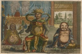 Kingang, diety of war with deities of immortality and sensual pleasure.