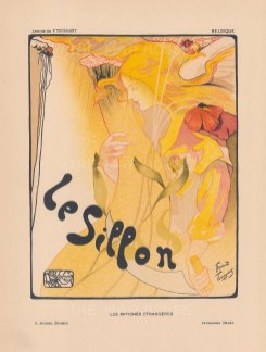 Le Sillon: Advertisement for an exhibition by the artists' group Le Sillon by Fernand Toussaint.
