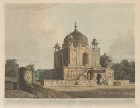 Mausoleum of Sultan Purveiz near Allahabad: Part of the burial complex at Khusrau Bagh, and may actually be the tomb of the sultan's sister Nisar Begum.