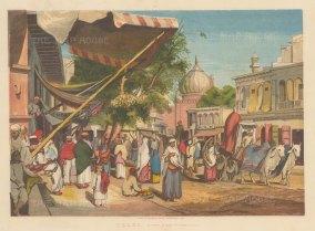 "Illustrated London News: Delhi. 1857. An original antique chromolithograph. 13"" x 10"". [INDp1422]"