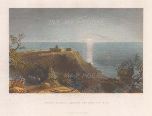 "Fisher: Mount Carmel. 1836. A hand coloured original antique steel engraving. 9"" x 7"". [MEASTp1181]"