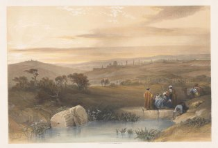 Valley of Jehosaphat: Panoramic view from the north between Scopus and the Mount of Olives towards Jerusalem.