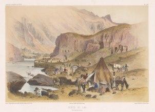"de Hell: Lars (Larestan), Iran. 1853. A hand coloured original antique lithograph. 17"" x 12"". [MEASTp1413]"