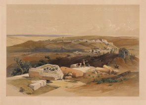 Gaza: Panoramic view approaching by Beit-Gebrin. With the Egyptian Light Dragoons and Lancers marching to Sidon (Sayda).