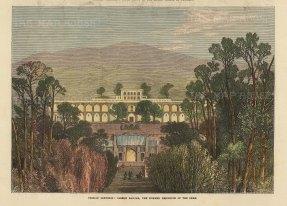 "Illustrated London News: Tehran, Iran. 1873. A hand coloured original antique wood engraving. 10"" x 7"". [MEASTp1611]"