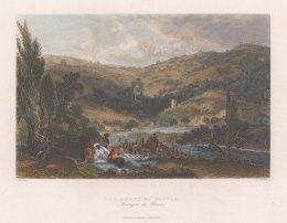 "Bartlett: Mount of Olives. 1838. A hand coloured original antique steel engraving. 9"" x 7"". MEASTp1672]"